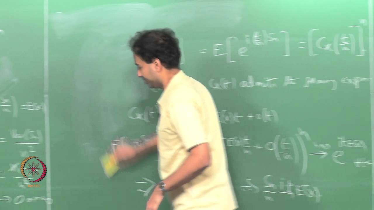 Mod-01 Lec-47 THE LAWS OF LARGE NUMBERS