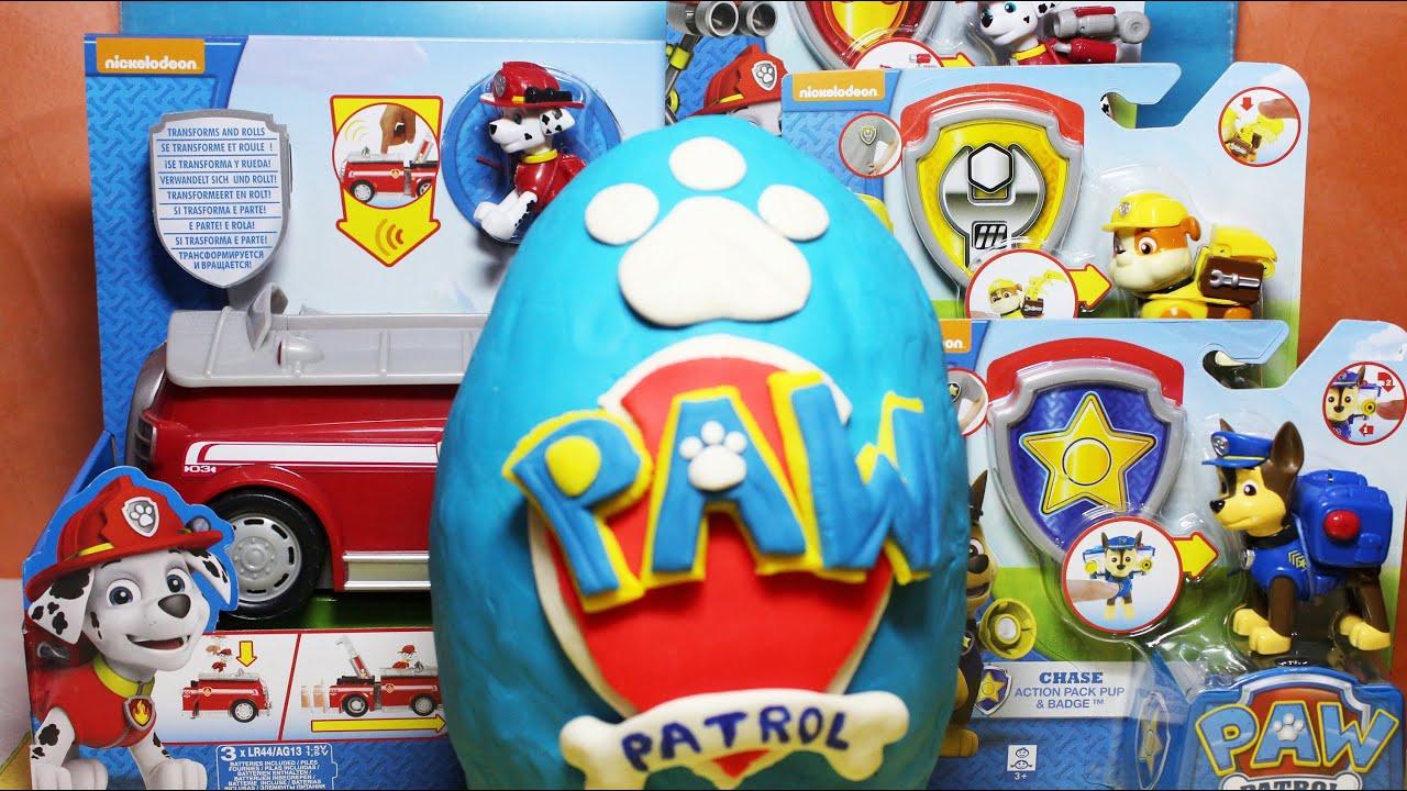 Paw patrol giocattoli personaggi di cartoni animati uovo