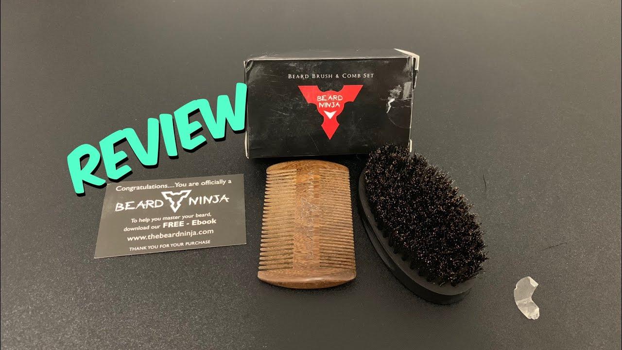 BEARD NINJA - Beard Brush & Comb Set for Men Review