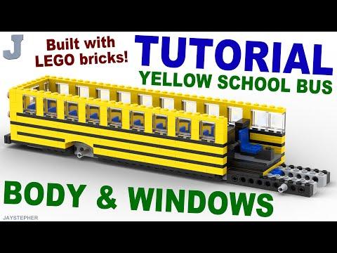 Tutorial (3 - 5) - Lego Yellow School Bus: Body And Windows [CC]