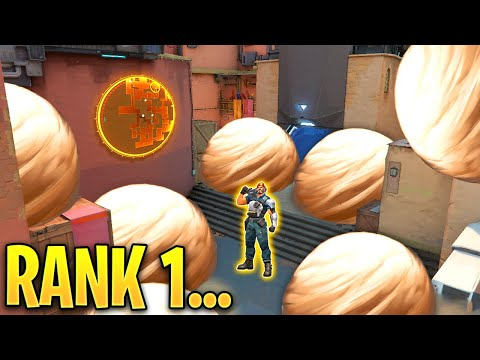 Valorant: What The RANK 1 BRIMSTONE Player Looks Like! - 200IQ Tricks U0026 Plays - Valorant Highlights