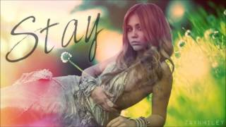 miley cyrus stay acoustic version hq audio