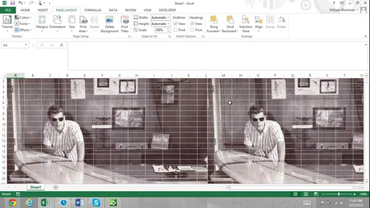 Background image in excel - Excel For Noobs Part 46 How To Add Background Images In Excel 2016 Tutorial Excel 2013