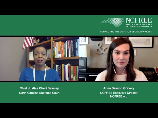 NCFREE Judicial Interview - Chief Justice Cheri Beasley - Supreme Court Chief Justice