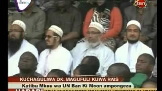 Ban Ki Moon Amkubali Rais Magufuli Kutimiza Ndoto Za Watanzania