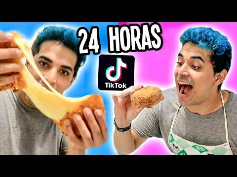 24 HORAS SÓ COMENDO COMIDA DO TIKTOK