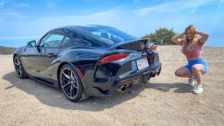 MY LITTLE SISTER REVIEWS MY 650HP TOYOTA SUPRA!