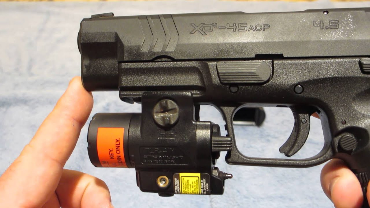 Streamlight Tlr 4 Light Laser For Springfield Xdm Youtube