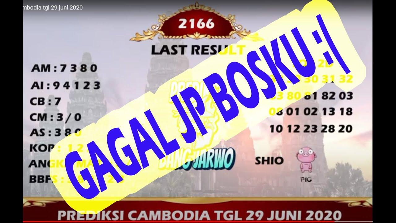 prediksi cambodia tgl 30 juni 2020 - YouTube