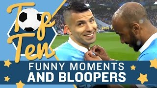Top 10 Funny Moments & Bloopers | Manchester City | 2015/16