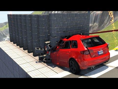 Satisfying Slow Motion Crashes - BeamNG Drive Car/Bus/Truck Crash Testing