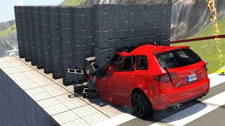 Satisfying Slow Motion Crashes - Beamng Drive Carbustruck Crash Testing
