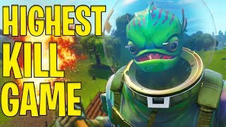 HIGHEST KILL GAME YET!! - FORTNITE BATTLE ROYALE!!
