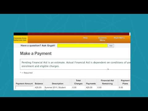 Paying Your Tuition on WebAdvisor