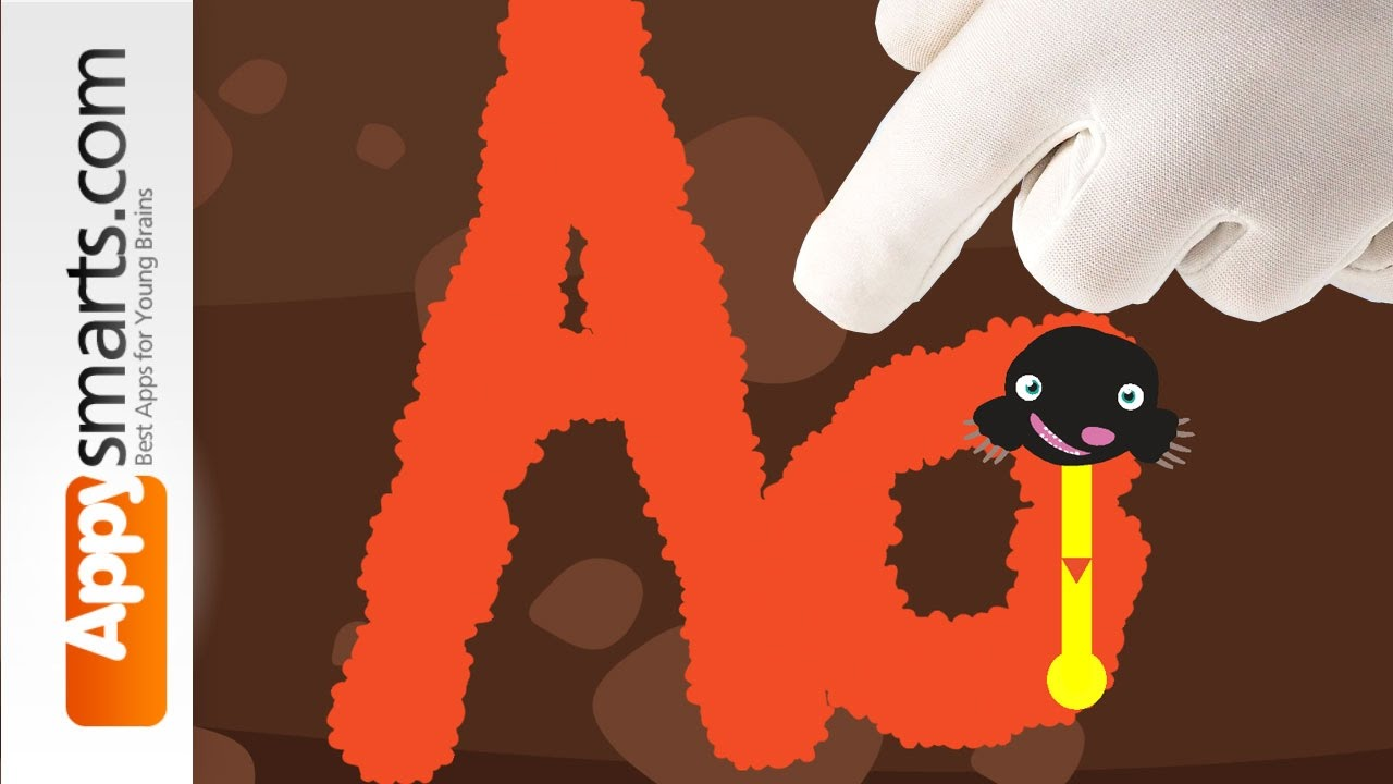 Learn to write (letters A through Z + alphabet tracing) – fun kids game video