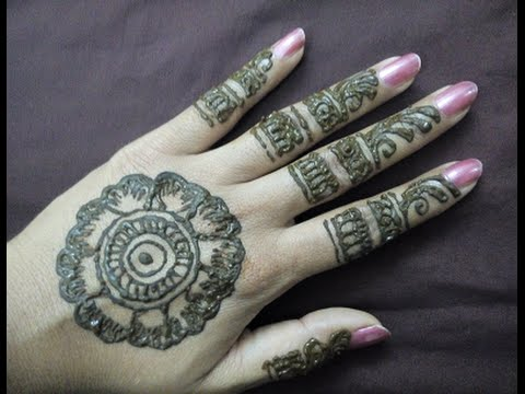 Flower Mehndi Designs For Back Hands : Mehndi designs back hands design youtube