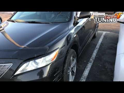Реснички Тойота Камри 40 / Накладки на фары Toyota Camry V40 до низа фары у решетки / Обзор