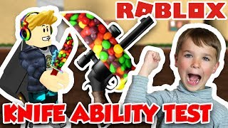 ROBLOX KNIFE ABILITY TEST | USING SKITTLES KNIFE