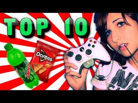 TOP 10 GAMER FOODS!!