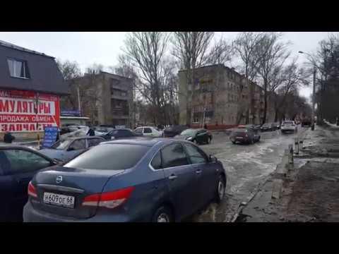 Ж/д переезд в районе ул. Карла Маркса (Тамбов, 2 апреля 2018 г.)