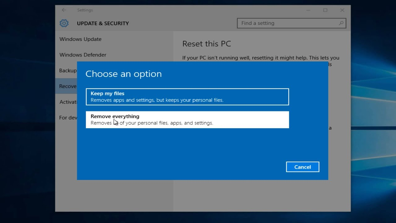 Windows 10: How To Clean Factory Reset and Remove Personal