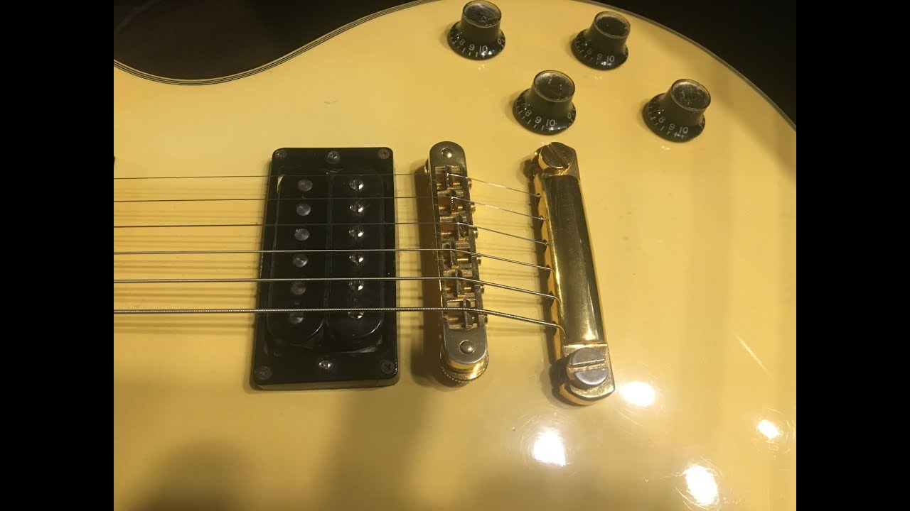 1978 Vintage Gibson Les Paul Custom 300k Vs 500k Pots Youtube Volume Control Wiring