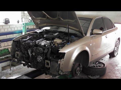 Замена ремня ГРМ на Audi A4 B5 1.8T 2002г.