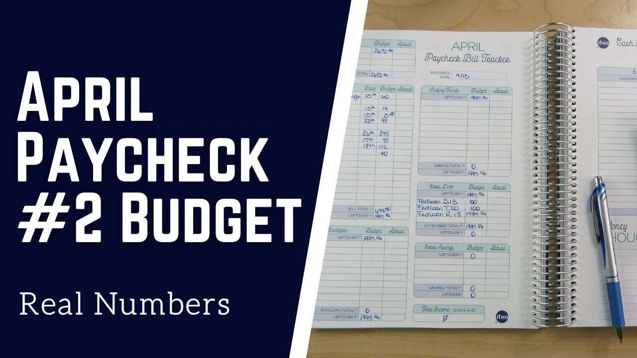 Budget with Me| April 2021-Paycheck #2 Budget - Real Numbers| Debt: $30,034.89