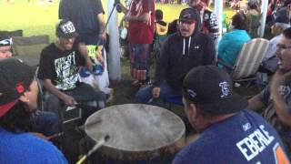 Buffalo Lodge @ Swan Lake Pow wow 2014
