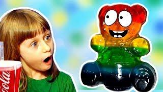 Разноцветный Желейный Медведь Сборник Видео для Детей Обнимашки с Машей