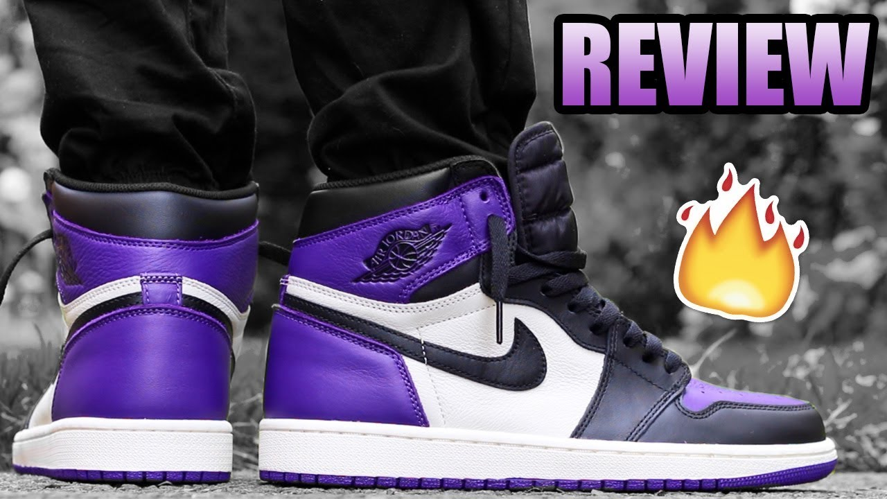 finest selection 47335 d5446 Jordan 1 COURT PURPLE Review ! | Jordan 1 Court Purple On Feet !