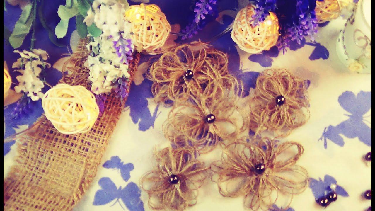 Diy burlap flowers easy preeti petals youtube diy burlap flowers easy preeti petals izmirmasajfo