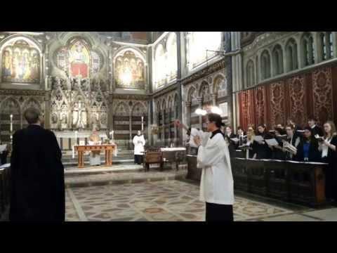 Oriel College choir at Keble College chapel, Oxford (1/2)