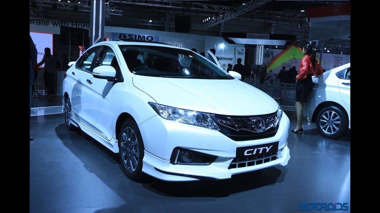 Honda City VX (O) BL With Full Bodykit At 2016 Auto Expo   YouTube