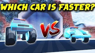 BATMOBILE IS FASTER THAN MONSTER TRUCK?! | Roblox Jailbreak Vehicle Speed Test