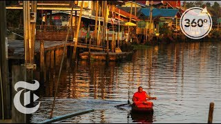 A Monk's Floating Journey For Alms | 360 VR Video | The New York Times