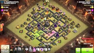 Clash of clans Ataque A Ayuntamiento 9 100% 3 Estrellas Galalon