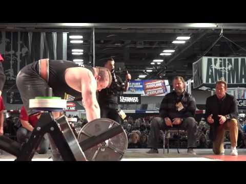 Eddie Hall - Deadlift 465 kg (NEW WORLD RECORD) Arnold Schwarzenegger Freaks Out