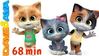 😻 Nursery Rhymes Songs Collection | 60 min 3D English Nursery Rhymes \u0026 Baby Songs from Dave and Ava