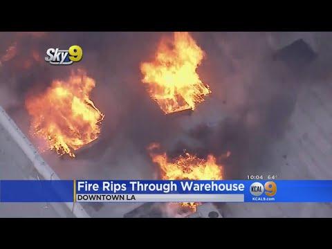 Fire Rips Through Warehouse