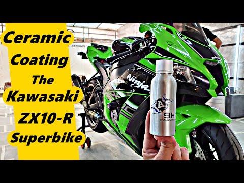 Ceramic Coating Kawasaki Ninja ZX10R Superbike | Liquid Armor 9H