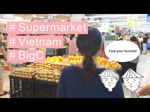 Where to shop Vietnam Hanoi supermarket BigC Souvenir ベトナムのス
