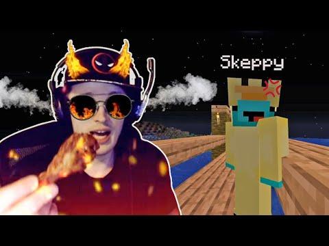 BadBoyHalo And Skeppy Eating Super Hot Wings! // BadBoyHalo Face Cam