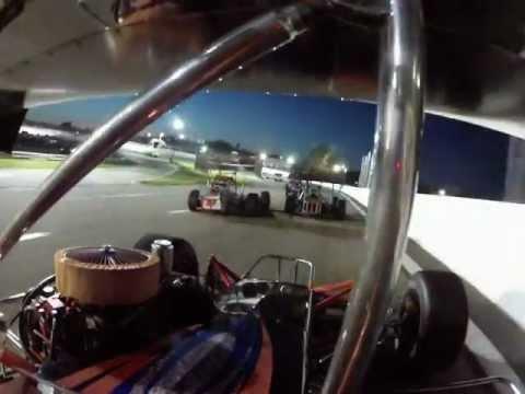 Mike Netishen Lee USA Speedway SB Supermodified Race 2 Crash 5/18/12