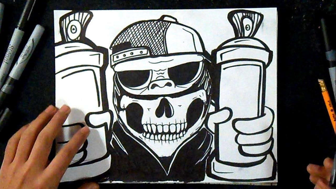 C mo dibujar un gorila gansta ii graffiti youtube - Comment dessiner joker ...