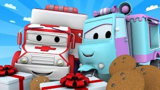 Поезд для детей -  Печенье для пациентов больницы - Поезд Трой в Автомобильном Городе