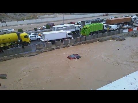 Flood in Muscat Oman Jan 2015