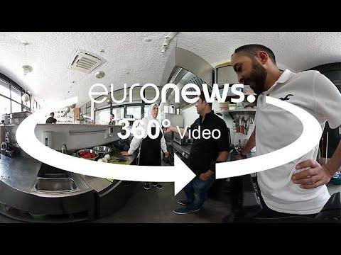 مطعم للاجئين سوريين في لشبونة لتقديم المأكولات والتبادل الثقافي... تعرفوا عليه 360 درجة…  - 19:22-2018 / 7 / 18