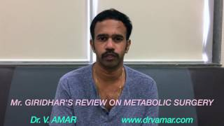METABOLIC SURGERY: Mr. GIRIDHAR'S REVIEW (1080p, ENGLISH) - Dr. V. AMAR, www.drvamar.com
