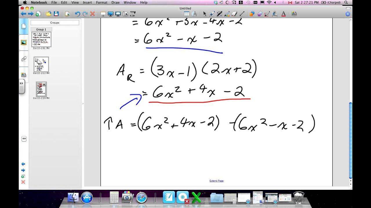 Algebra Of Quadratic Expressions Grade 11 Mixed Chapter 2